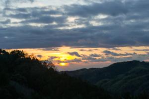 三ヶ根山 夕日